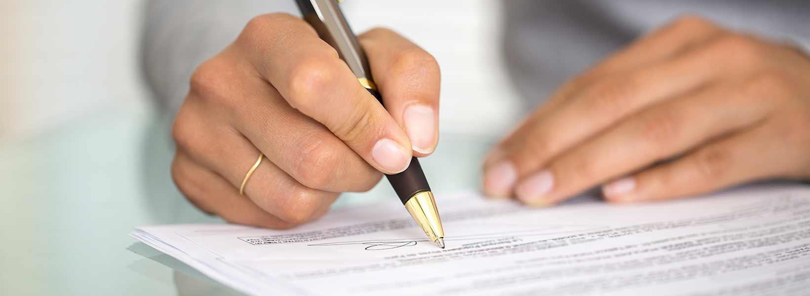 van getekend contract af komen
